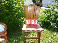Antique Mohagany Deacon's chair