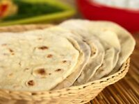 Home Made Hot and fresh whole wheat flour Rotis/Chapatis