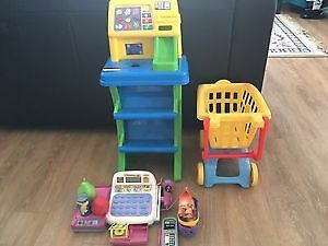 Cash registers with shopping cart. AVAILABLE