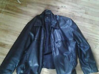 selling large mens leather coat