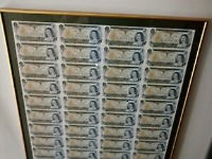 FRAMED SHEETS OF 40 $1 DOLLAR BILLS