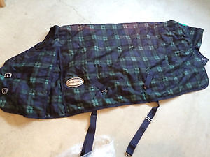 Shedrow Green Plaid Stable Blanket