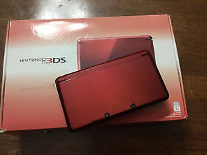 Nintendo 3DS in box with Charger and 60 Games