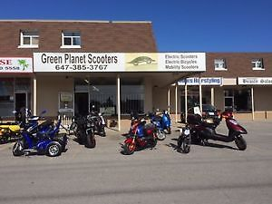 Green Planet Scooters Newmarket offer financing.