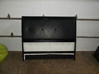 BRAND NEW SOLID WOOD WITH LEATHER QUEEN SIZE HEADBOARD