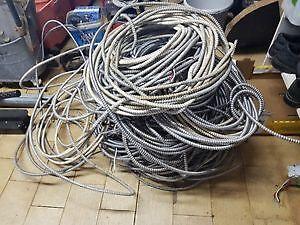 fil electric cable BX CALIBRE 6-8-10-12-14 de $0.25 a $1 le pi.