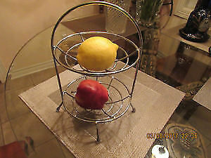 New metal fruits double storage basket