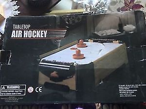 Tabletop air hockey for sale. AVAILABLE