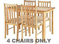 Brand new 4 dining chairs £35