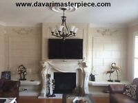 FIREPLACE MANTELS- PLASTER MOULDINGS-CUSTOM DESIGN-SCULPTURE