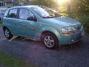 Pontiac Hatchback Ocean blue colour