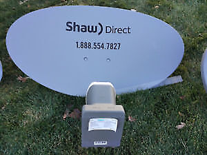 Selling Shaw Direct HD TV Dish/LNB & 1 HD PVR Receiver $125 OBO
