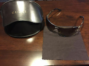 Authentic Gucci sunglasses with a case brown