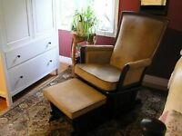 Gliding chair/ footstool