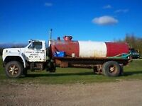 1700 gallon septic tank truck open to trades