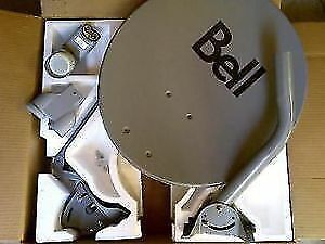 """SEALED 20"""" BELL HD SATELLITE DISH WITH SEALED SW-44 SWITCH"""