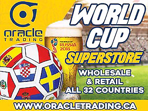 WORLD CUP SOCCER SUPERSTORE -ALL TEAMS- HUGE WAREHOUSE SALE