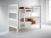 Solid chunky, Snow white, Bunk bed, Single, Thick, Firm, Mattress, seperates in to single beds,