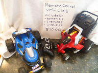 Remote Control Vehicles - Various Prices
