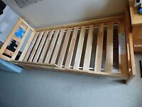 Almost new IKEA bed up to age 8 for the cost of £15