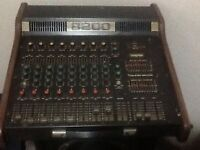 VINTAGE POWERED MIXER (400 WATTS) IMMACULATE CONDITION. TRAYNOR 8200 8/200 Dual 200 X 2 powered mic
