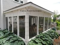 CANVAS PORCH ENCLOSURES WITH CLEAR VIEW 20 ML. PLASTIC