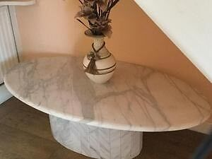 Used Marble grey and white oval dining Table. Taringa Brisbane South West Preview