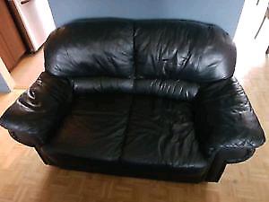 Sofa noire *livraison aujourd'hui*