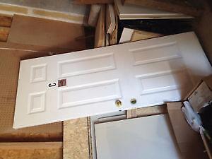 24'Folding Door+Different trims+ 32' 6 panels Slab Door