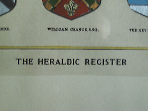 'The Heraldic Register' - Beautiful Framed Print Cambridge Kitchener Area image 2