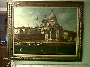 Antique listed Italian artist Mary Botto oil painting