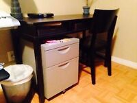 IKEA Black Brown Desk and Chair