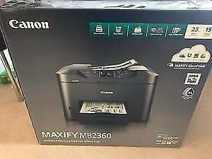 As new Canon Maxify MB2360 printer/fax/copier/scanner