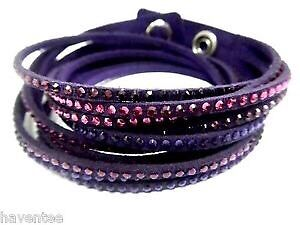 Authentic leather Swarovski band  for sale