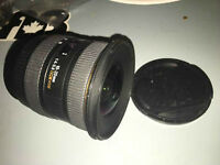 Sigma 10-20mm wide lens for canon