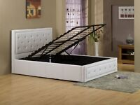 A Single/Double/Kingsize Diamond ottoman leather storage bed frame with Mattress