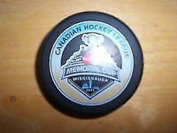 MEMORIAL CUP COLLECTORS PUCK FROM THE 2011-MISSISSAUGA