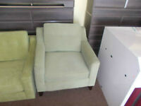 2 DIFFERENT GREEN ACCENT CHAIRS