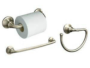 Brushed Nickel 4 piece Bathroom Accessories for sale! Brand new!