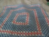 New baby crochet blanket aprox 25inch square New baby crochet blanket aprox 25inch square