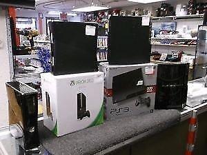 CONSOLE PS3 SLIM A PARTIR DE 99.95 $ AVEC 3  JEUX  INCLUS ET XBOX 360 +++ 3 JEUX INCLUS A 79.95 $