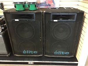 SMALL PA YORKVILLE    M8 MIXER AND 2 EX161 ELITE $450