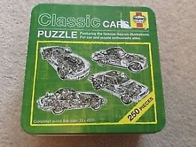 Haynes Classic Cars 250 pieces Puzzle Jigsaw in a tin. As new .......