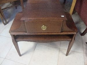 1940 solid french Mohogany table refinished