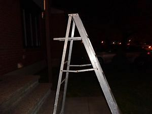 TWO ALUMINUM STEP LADDER