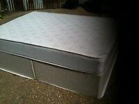Double Divan Bed and Mattress - Free - Collection only