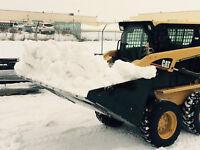 "84"" SKIDSTEER/BOBCAT SNOW BUCKETS W/BOLT ON EDGE"