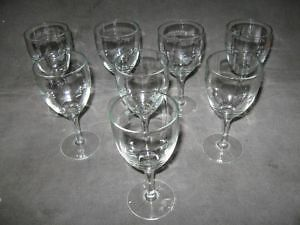 8 Glass Goblets + few more things-Lot $10