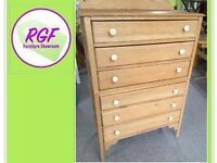 SALE NOW ON!! Tall Solid Wood Vintage Chest Of Drawers - Can Deliver for £19