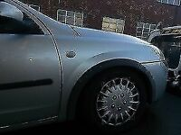 Vauxhall Corsa 1.2 O/S Wing In Silver Code: 157 Breaking For Parts (2002)